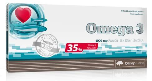 Omega 3 - Fischöl Kapseln - 60 Kapseln - Olimp